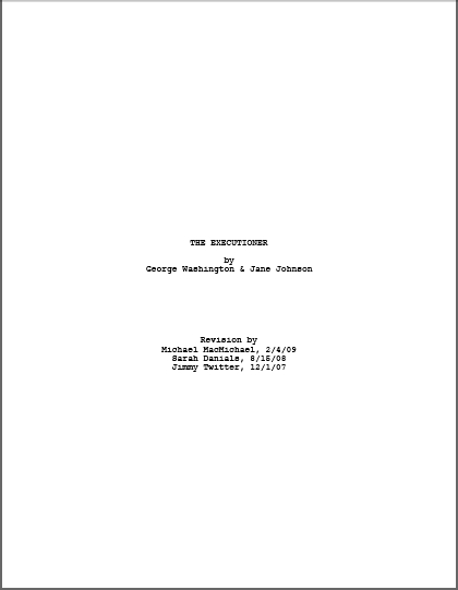 Screenplay Cover Letter  Resume Cv Cover Letter