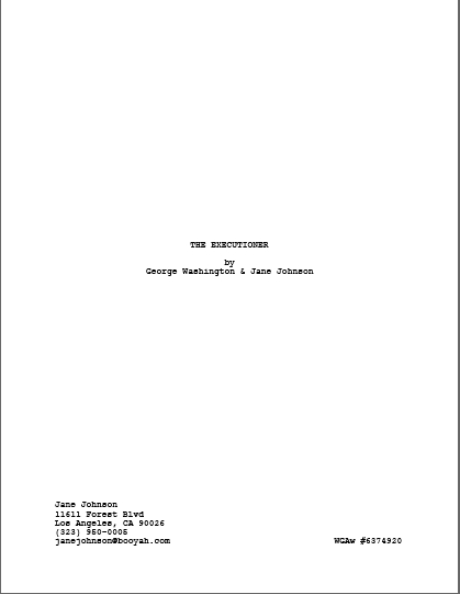 scriptfaze screenplay format